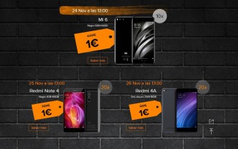 Black Friday: Xiaomi Spain gives away 10 Mi 6 units for €1