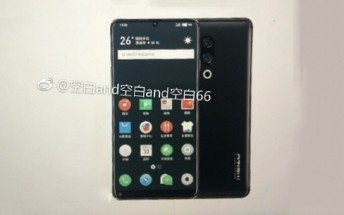 Image of Meizu 15 Plus confirms bezel-less design