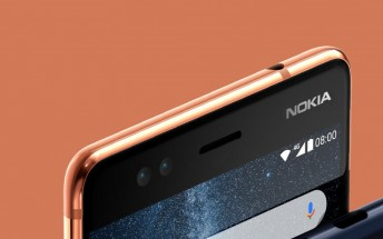 The 5MP selfie cam on the Nokia 9 will actually be a dual camera