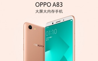 Oppo A83 announced with 5.7-inch display, 13MP camera