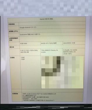 Sony H8216 specs