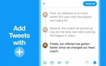Twitter makes it easy to create tweet threads