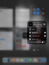 Streaming to two AirPlay 2 devices. Note single volume slider