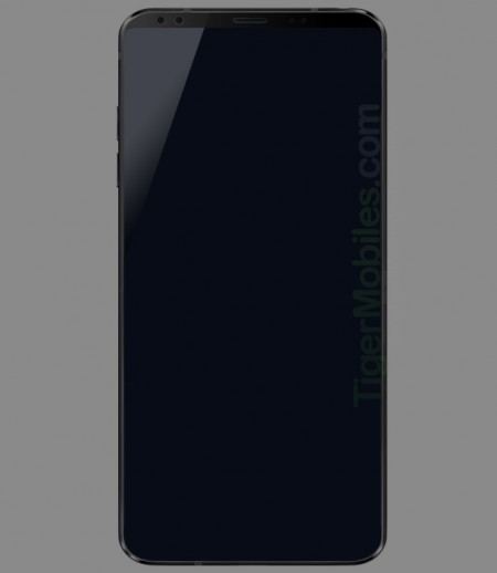 Alleged LG G7 render suggests even tinier bezels, dual front cameras