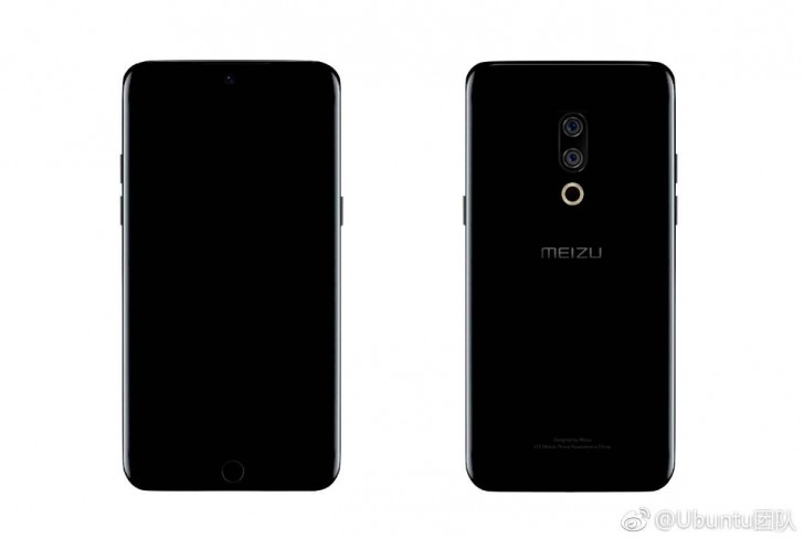 Meizu 15 appears in renders, to have dual-curved display