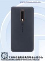Nokia 6 (2018) back panel on TENAA