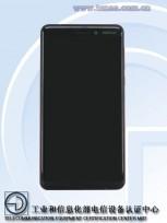 Nokia 6 (2018) front panel on TENAA