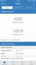 iPhone 8 Plus: Geekbench (after)