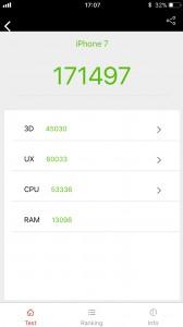 iPhone 7: AnTuTu (after)