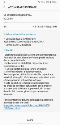 Samsung Galaxy S8+ receiving the Oreo update (again)