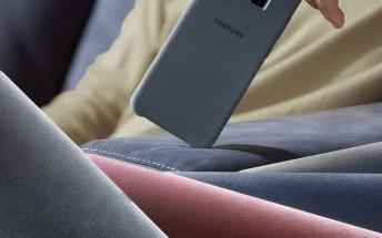 Samsung Galaxy S9+ cases leak: Alcantara and Clear View