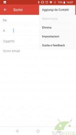 Gmail Go screenshots
