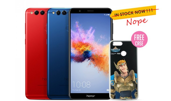 Huawei launches Red Honor 7X internationally, adds a Gray color too