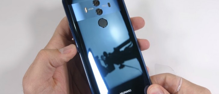 Huawei Mate 10 Pro undergoes scratch, burn, and bend testing