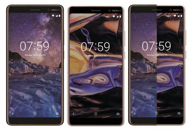 Nokia 7 Plus in Black, White and a comparison