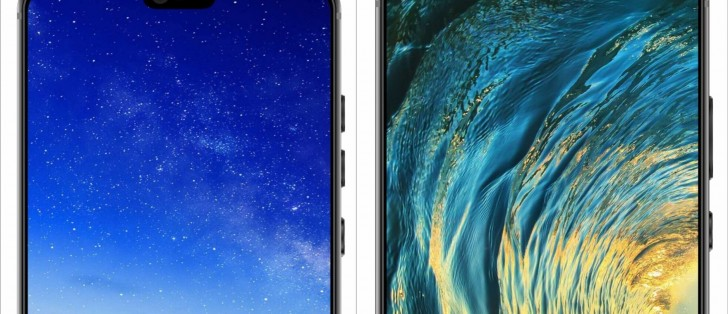 Huawei P20 and P20 Plus show off their notches in leaked press renders