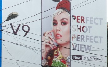 Unannounced vivo V9 appears on a billboard in Indonesia with a screen notch