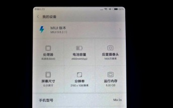 Xiaomi Mi Mix 2s specs leak yet again