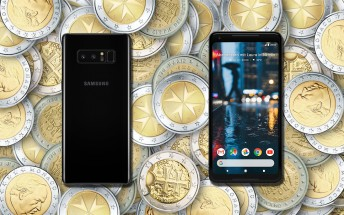 Deals: new Pixel 2 XL for €700, new Galaxy Note8 for €616 (dual SIM)