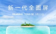 Huawei nova 3e goes official on March 20