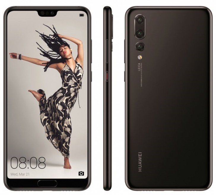 Huawei P20, P20 Lite, and P20 Pro press renders leak
