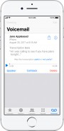 Visual Voicemail and Transcription in iOS