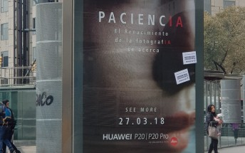 Huawei confirms P20 Pro's name with a billboard in Barcelona