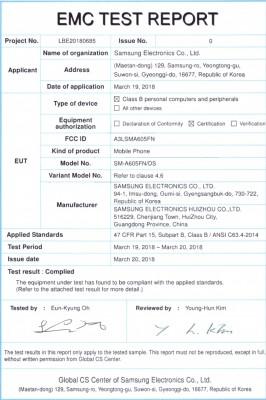 Samsung Galaxy A6+ FCC documents