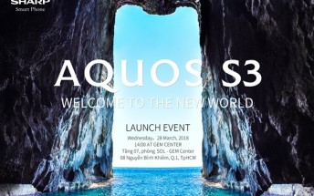 Sharp Aquos S3 will be announced on March 28