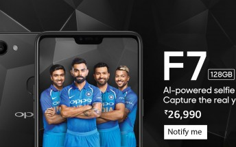 Oppo F7 Diamond Black Edition goes on pre-order in India, ships on April 21