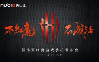 Nubia to launch Red Magic gaming phone on April 19