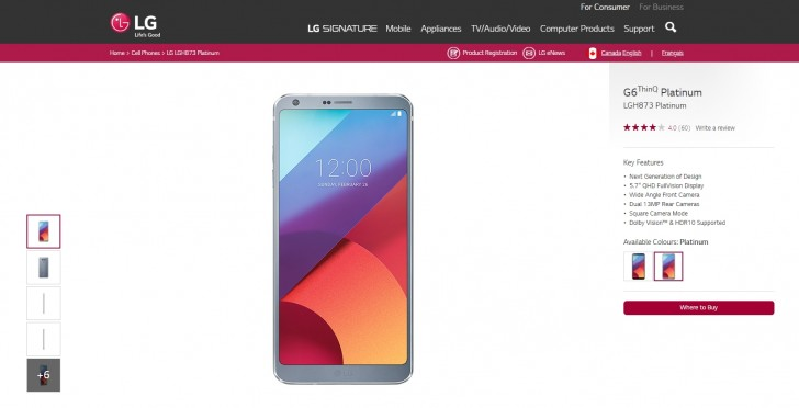 LG G6 pops up with ThinQ moniker