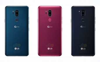 LG G7 ThinQ leaked press renders show three colors
