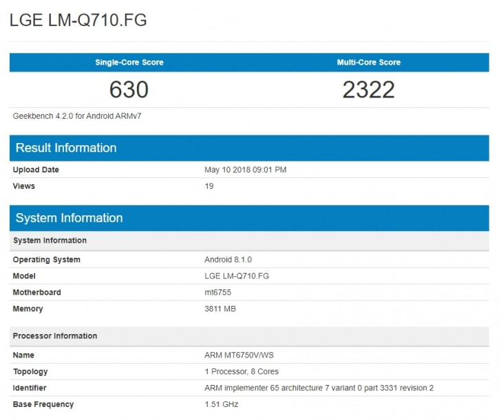 LG Q7 shows up on Geekbench with Helio P10