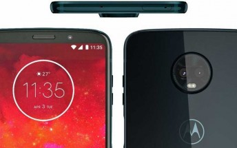 Leaked press render of the Moto Z3 Play confirms side fingerprint sensor