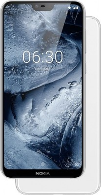 Nokia X6 in black, blue and white