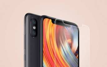 Images of Xiaomi Mi 8 screen protector offer a clear view of the new design