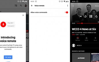 YouTube TV gets a new 'voice remote' feature