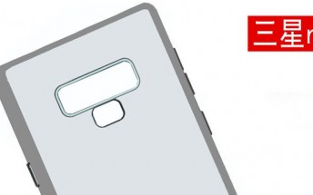 Samsung Galaxy Note9 case shows new fingerprint reader position and a new mystery button