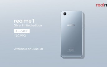 Oppo Realme 1 gets limited edition Silver variant