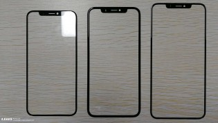 Left to right - iPhone 5.8\