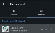 Android's default Clock app can now wake you up with Spotify