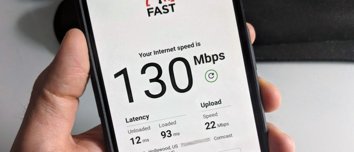 FAST com speed test now displays latency and upload speeds