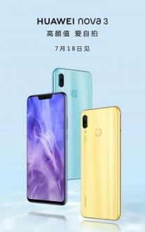 Huawei nova 3 arriving on July 18 - GSMArena com news