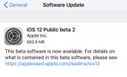 Apple releases iOS 12 public beta 2