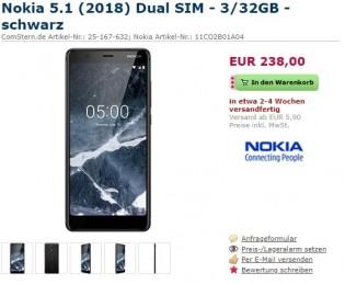 Nokia 5.1 pre-order listings
