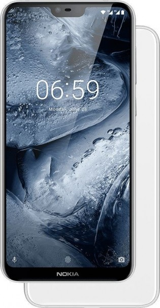 Nokia 6.1 Plus in Black and White
