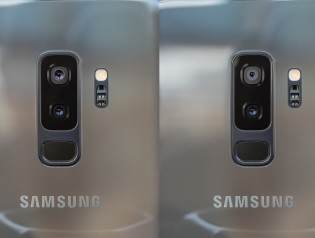 Galaxy S9+ on the left, Galaxy Note9 on the right