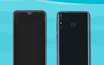 Huawei Honor 8X photos show a small V-shaped notch