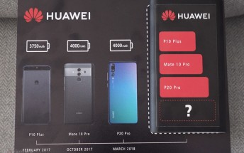 Huawei teases biggest battery capacity yet for the Mate 20 Pro
